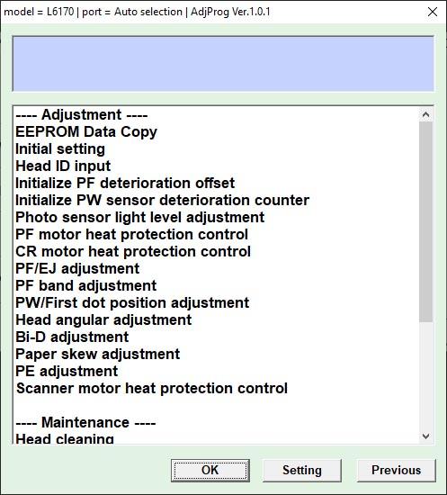 โปรแกรมเคลียร์ซับหมึก รีเซ็ต reset Epson L5190 - Reset in th
